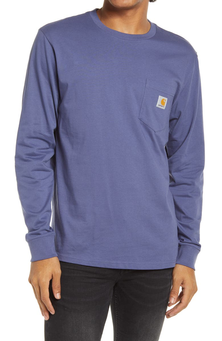 CARHARTT WORK IN PROGRESS Pocket T-Shirt, Main, color, COLD VIOLA