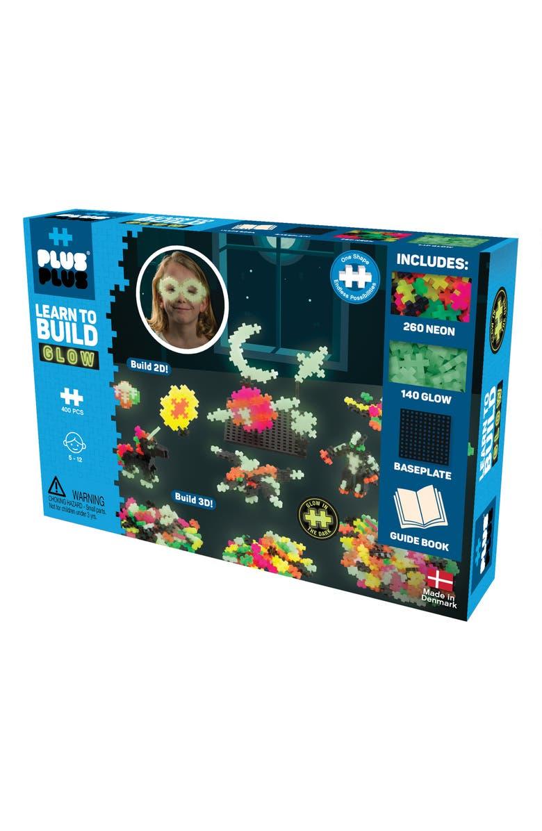 PLUS-PLUS USA Learn to Build - Glow, Main, color, MULTI