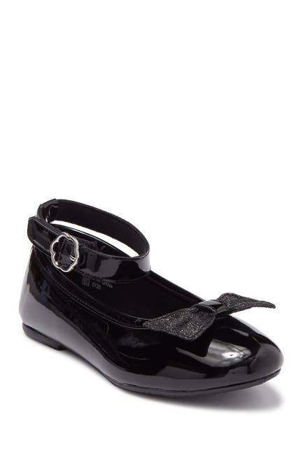 Image of Valencia Imports Beth Bow Ankle Strap Ballet Flat