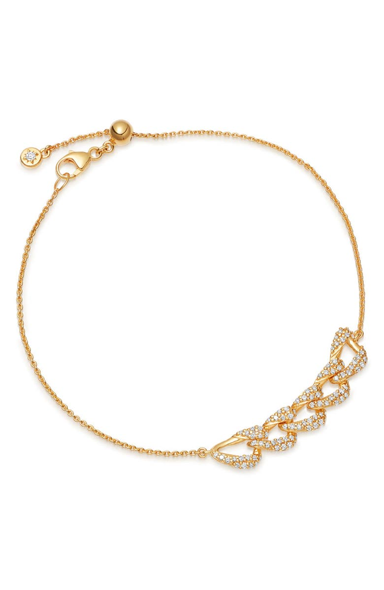 ASTLEY CLARKE Mini Vela Bracelet, Main, color, YELLOW GOLD/ DIAMOND