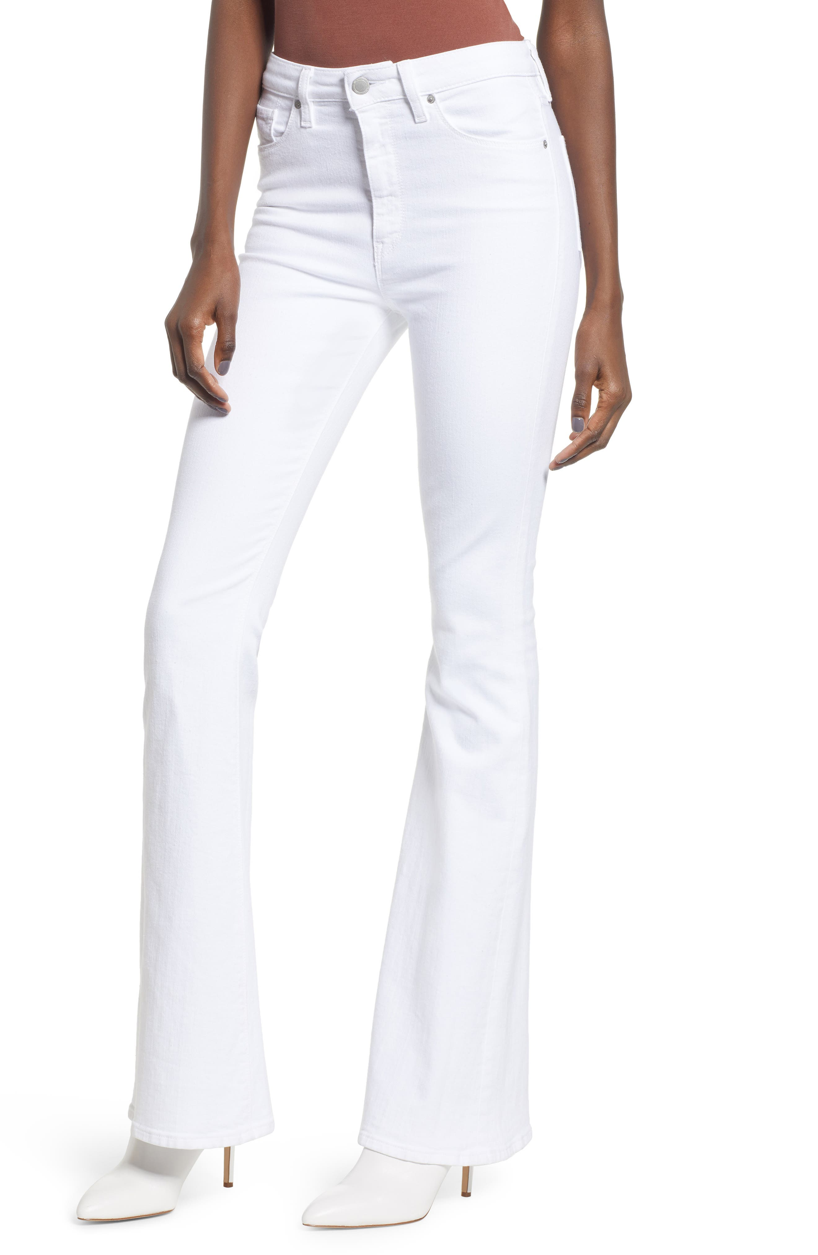 High-waist jeans are designed to hug your curves before flaring out dramatically at the knee, while retaining their figure-sculpting shape all day long. Style Name: Hudson Jeans Holly High Waist Flare Jeans. Style Number: 5724684. Available in stores.