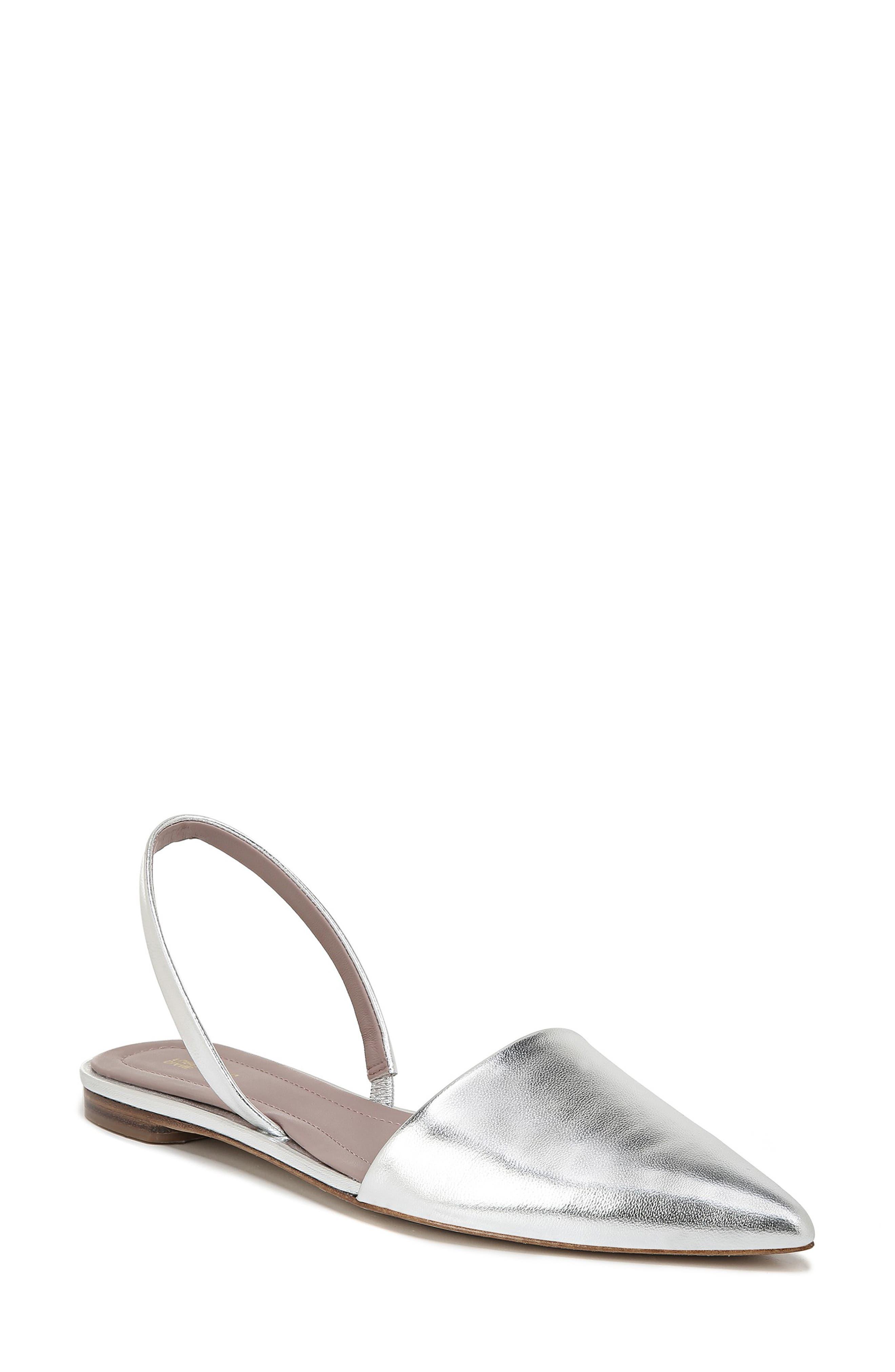 Diane Von Furstenberg Koko Slingback Flat, Metallic