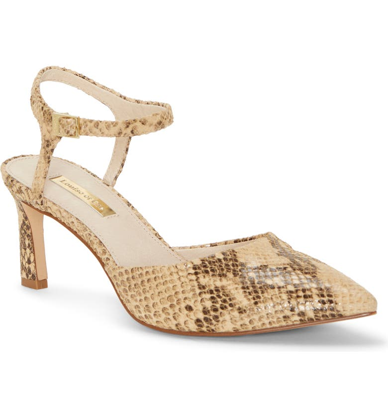 LOUISE ET CIE Kaiyla Pump, Main, color, NATURAL SNAKE PRINT