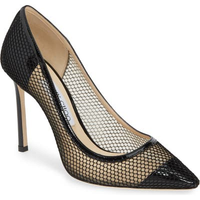 Jimmy Choo Romy Mesh Pump - Black