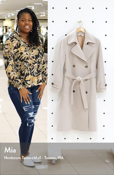 Wool Double Breasted Trench Coat, sales video thumbnail