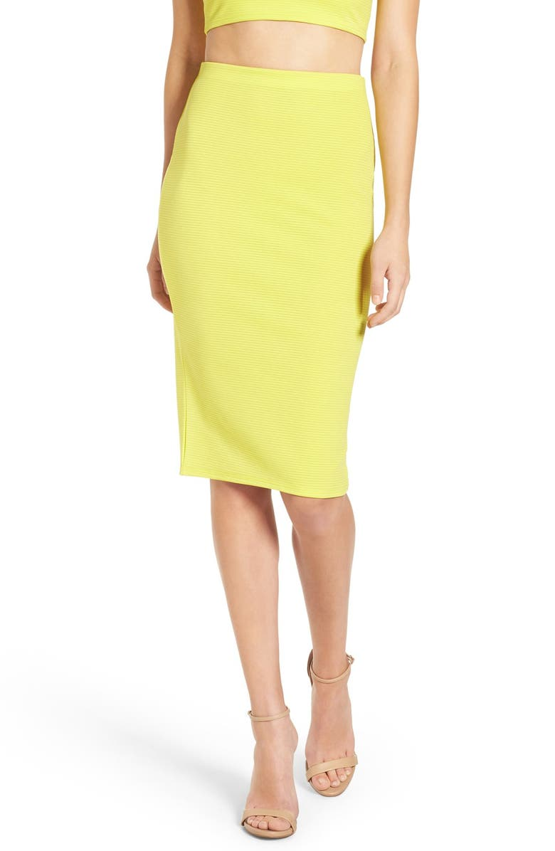 MISSGUIDED Ribbed Midi Skirt, Main, color, 300