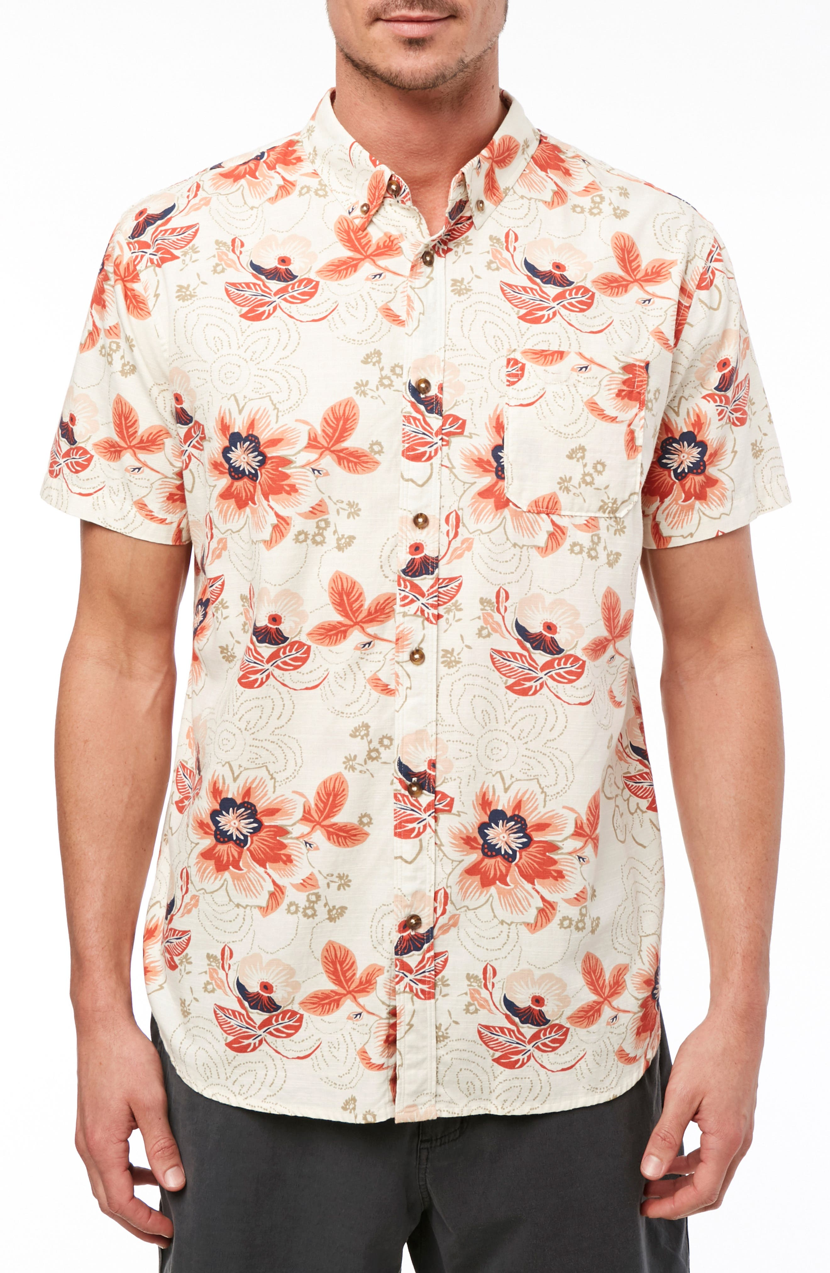 Boca Bay Sport Shirt, Main, color, BONE