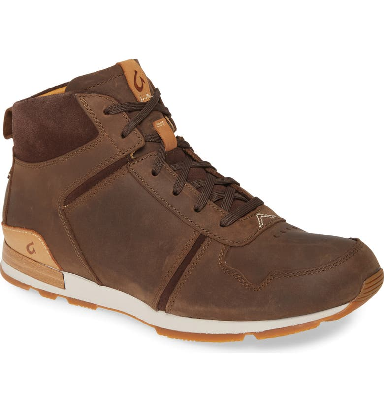 OLUKAI Huakai Puk Boot, Main, color, DARK WOOD/ DARK WOOD LEATHER