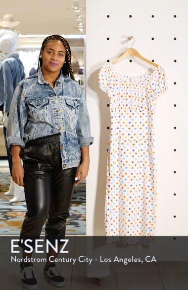 Calla Polka Dot Stretch Silk Dress, sales video thumbnail