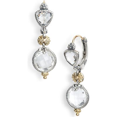Konstantino Pythia Double Drop Crystal Earrings