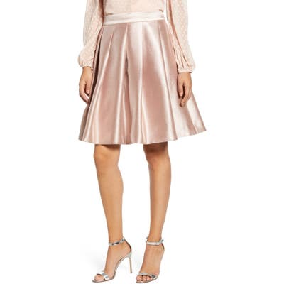 Rachel Parcell Full Twill Skirt, Pink (Nordstrom Exclusive)