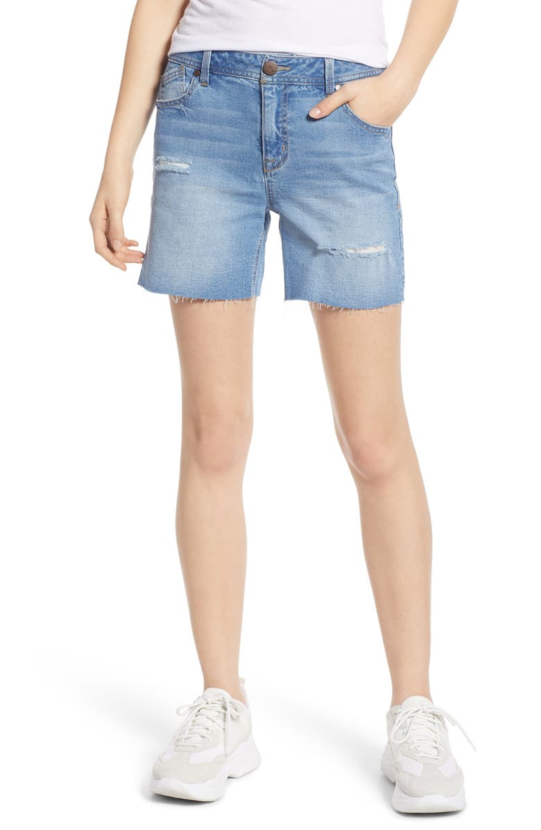 1822 DENIM Ripped Mom Shorts, Main, color, FRANCHESCA LIGHT WASH