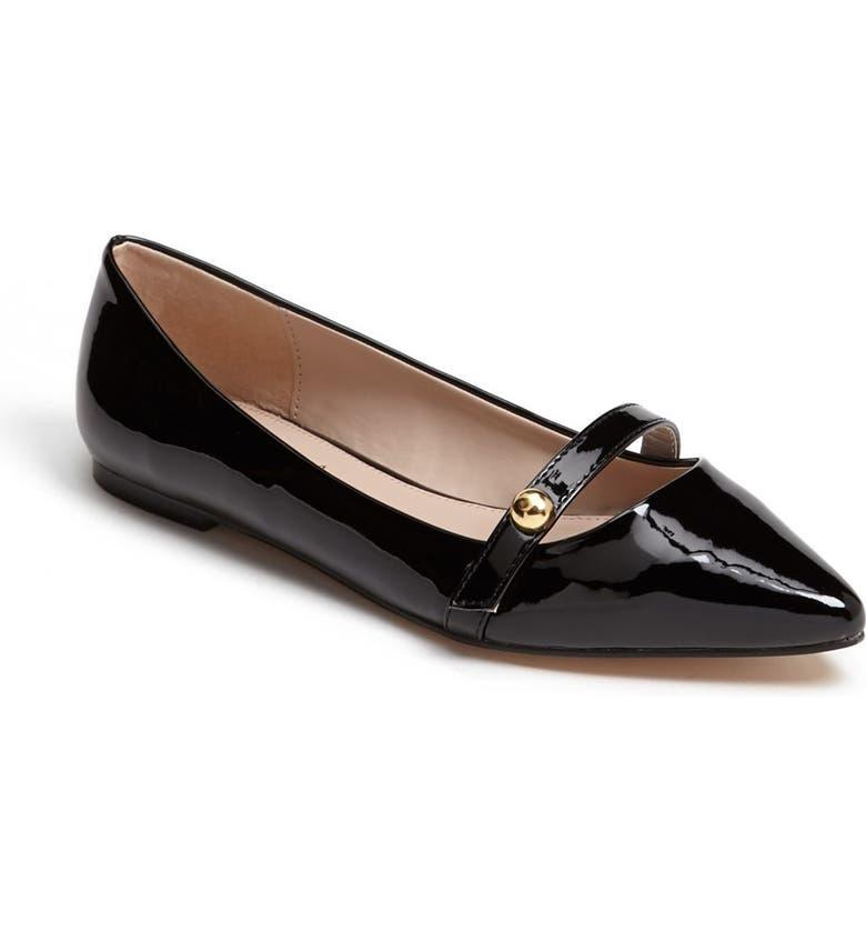 CARVELA KURT GEIGER 'Hanny' Pointed Toe Flat, Main, color, 001