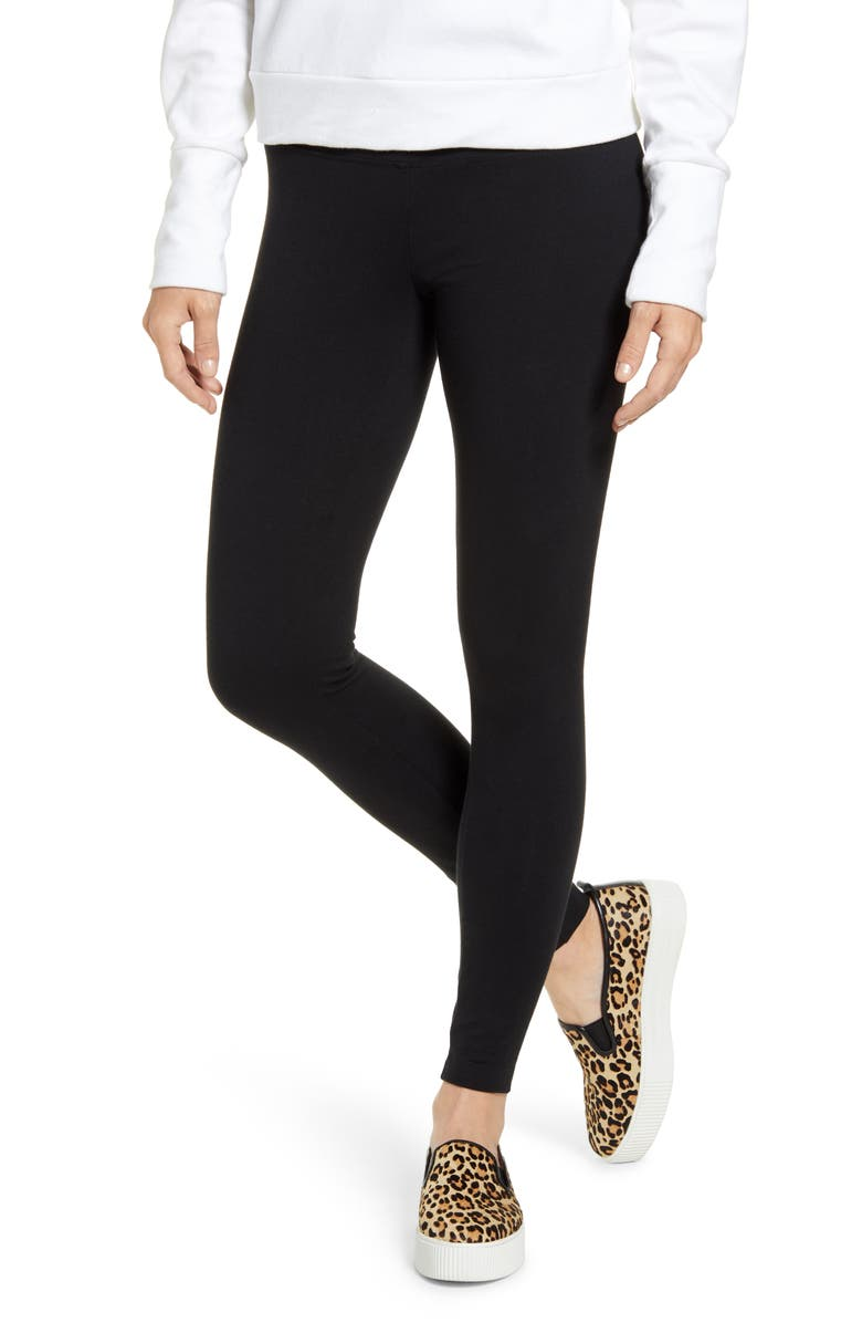 LYSSÉ Flattering Leggings, Main, color, BLACK