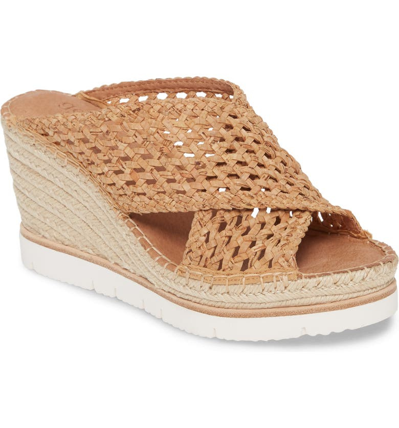 GENTLE SOULS BY KENNETH COLE Gentle Souls Signature Colleen Wedge Sandal, Main, color, NATURAL WOVEN