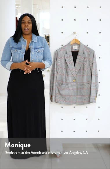 Peak Lapel Plaid Blazer, sales video thumbnail