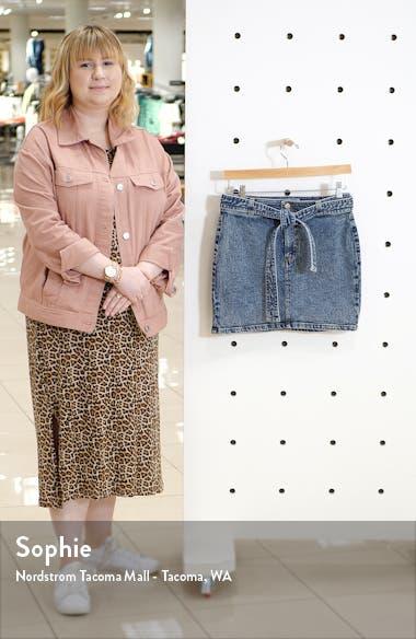 Belted Acid Wash Denim Miniskirt, sales video thumbnail