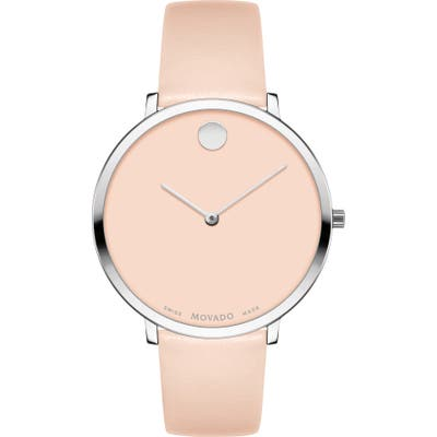 Movado Ultra Slim Special Edition Leather Strap Watch, 35Mm