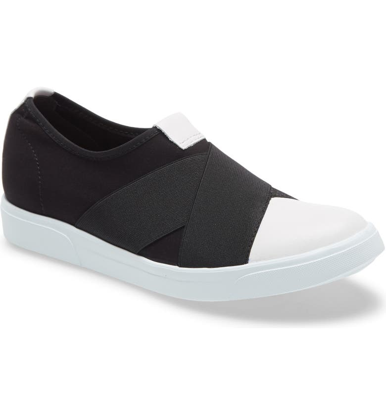 MUNRO Anjela Slip-On Sneaker, Main, color, BLACK FABRIC