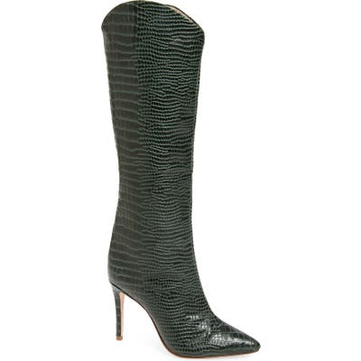 Schutz Maryana Pointy Toe Boot- Green