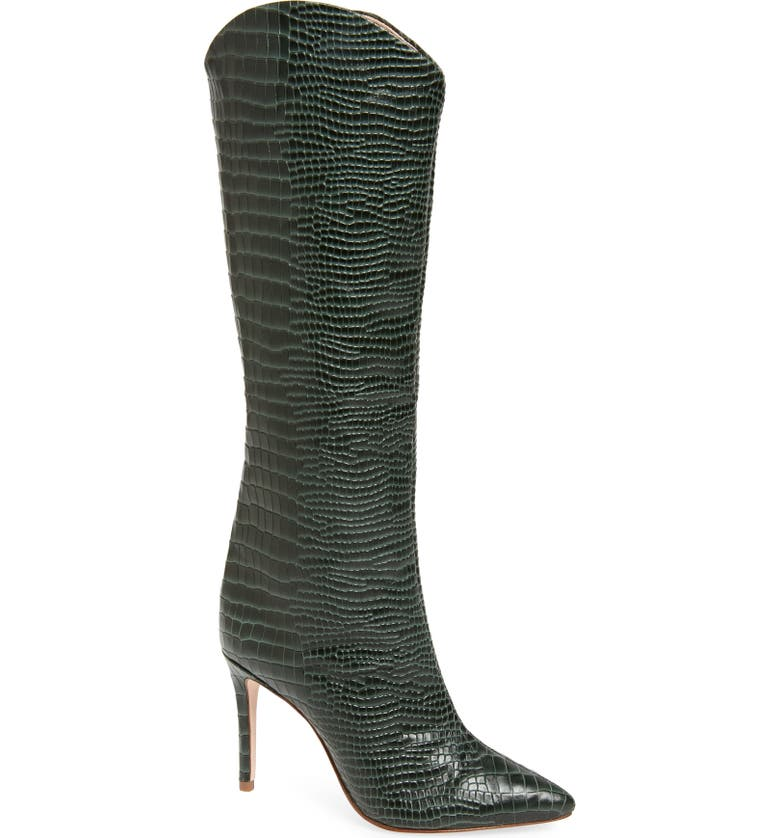 SCHUTZ Maryana Pointy Toe Boot, Main, color, DEEP GREEN LEATHER
