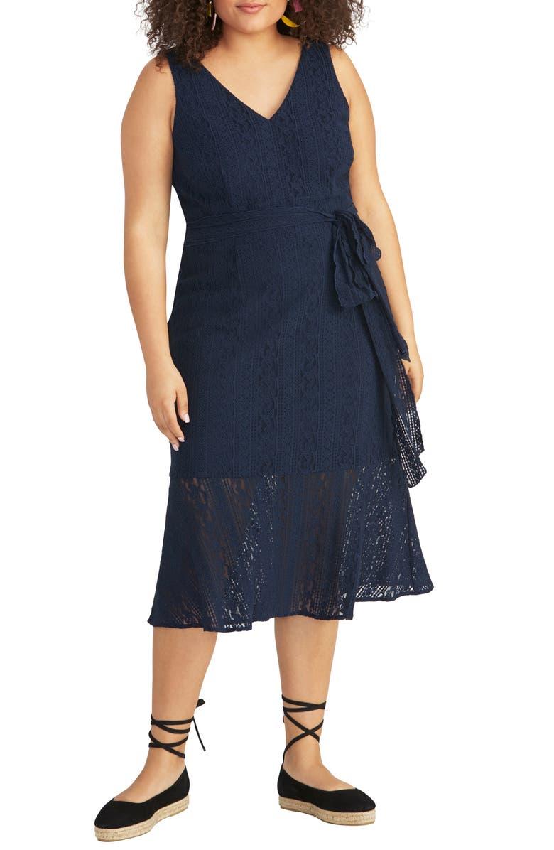 RACHEL RACHEL ROY Corded Lace Midi Dress, Main, color, 411