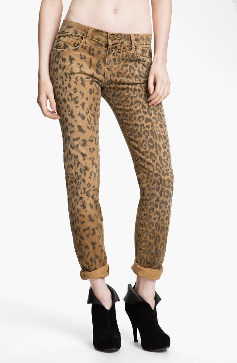 CURRENT/ELLIOTT Print Stretch Corduroy Pants, Main, color, 250