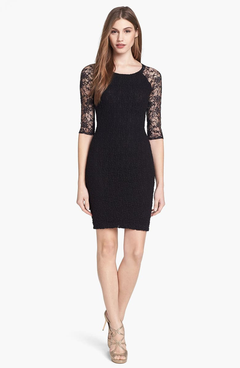 B44 DRESSED BY BAILEY 44 Popcorn Knit Lace Body-Con Dress, Main, color, 001