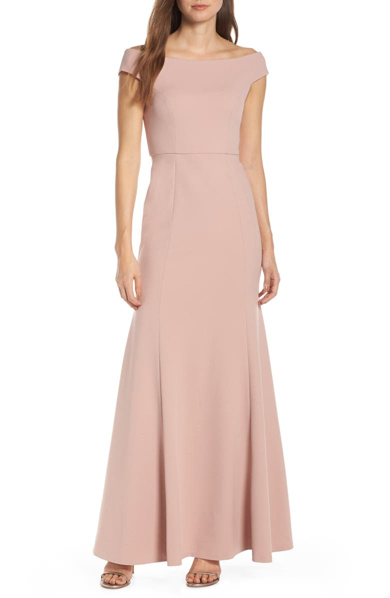Larson Off The Shoulder Crepe Evening Dress by Jenny Yoo