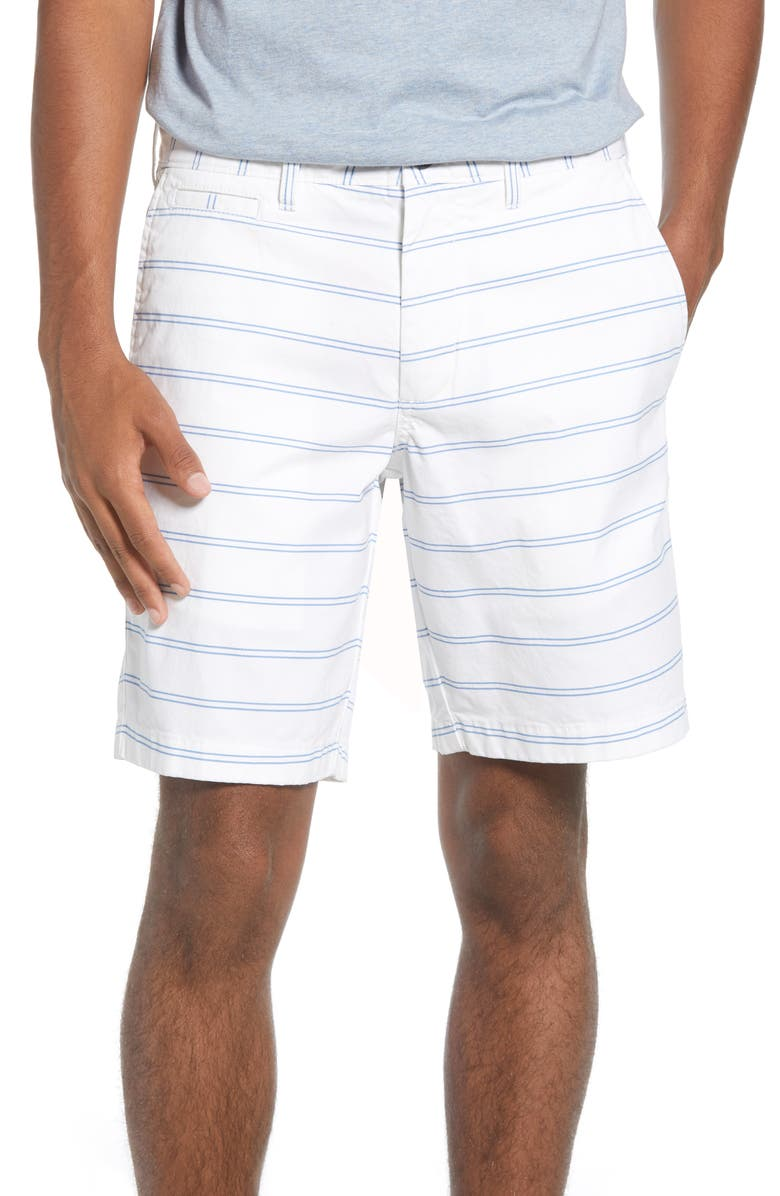 1901 Ballard Slim Fit Stripe Stretch Cotton Shorts, Main, color, 100