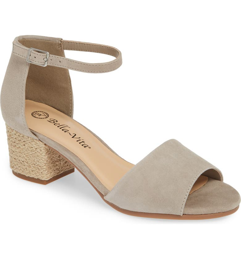 BELLA VITA Fable Sandal, Main, color, STONE SUEDE