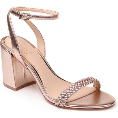 Jewel Badgley Mischka Suri Block Heel Sandal- Pink