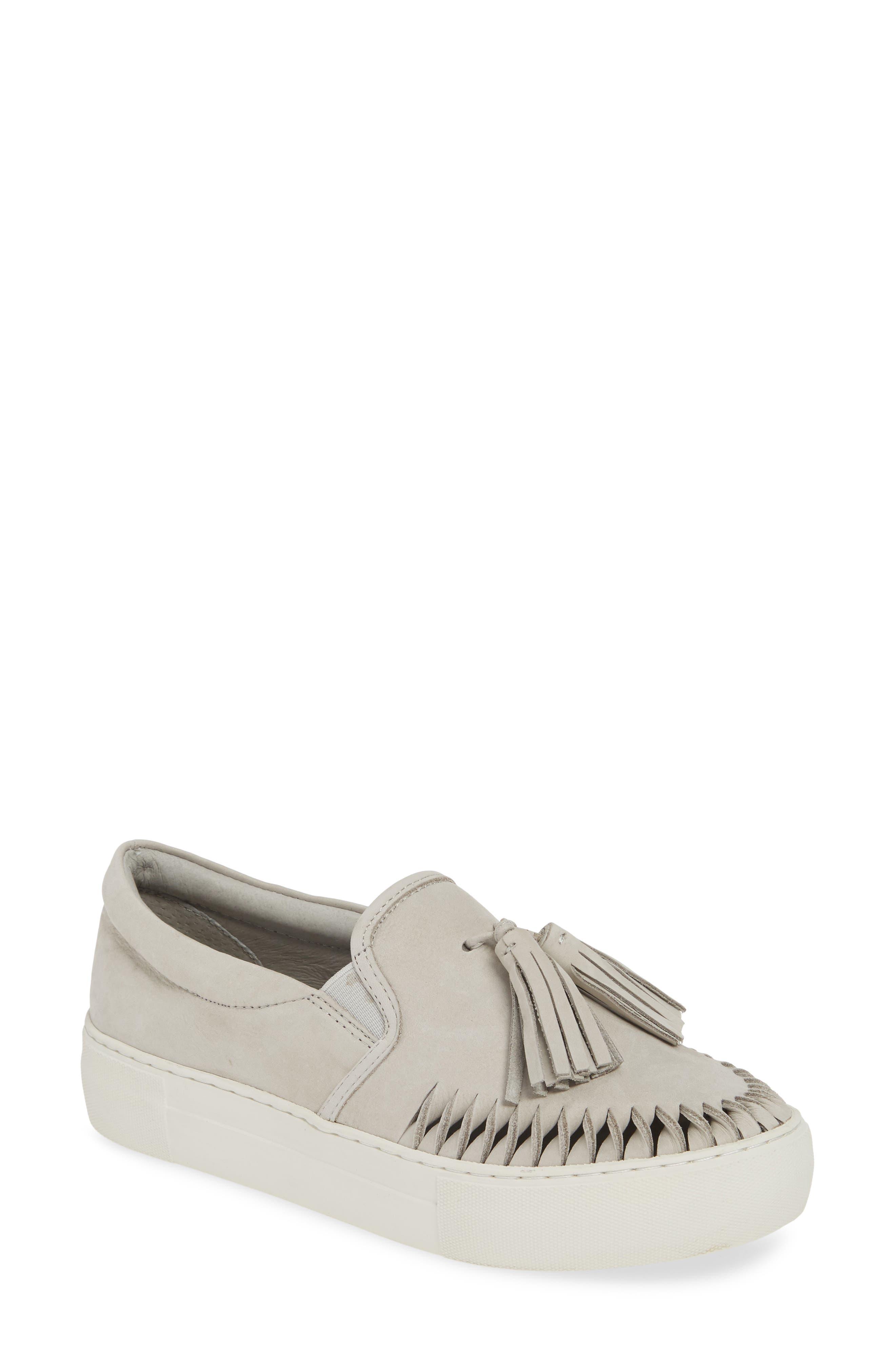 Jslides Tassel Slip-On Sneaker, Grey