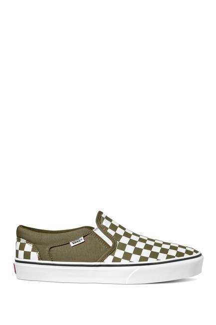 Image of VANS Asher Checker Print Slip-On Sneaker