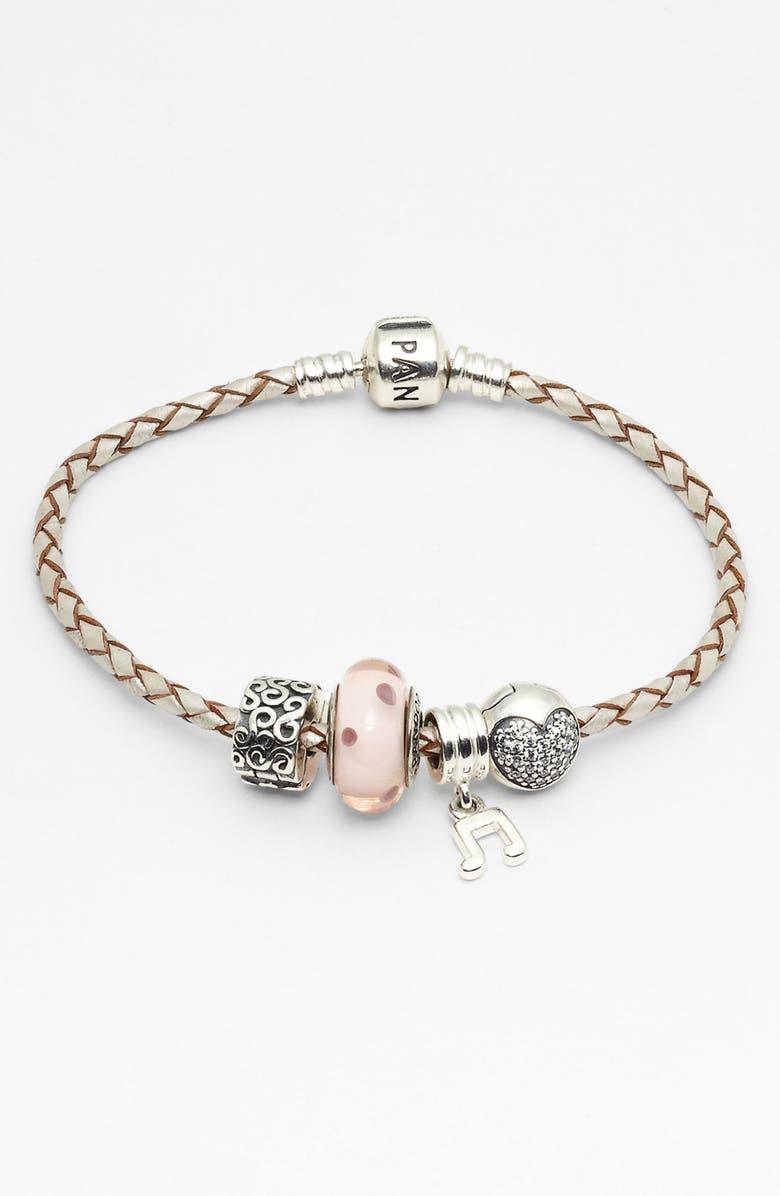 Pandora Leather Bracelet Charms Nordstrom
