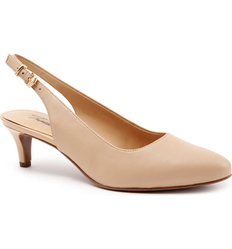 TROTTERS Keely Slingback Pump, Main, color, NUDE LEATHER