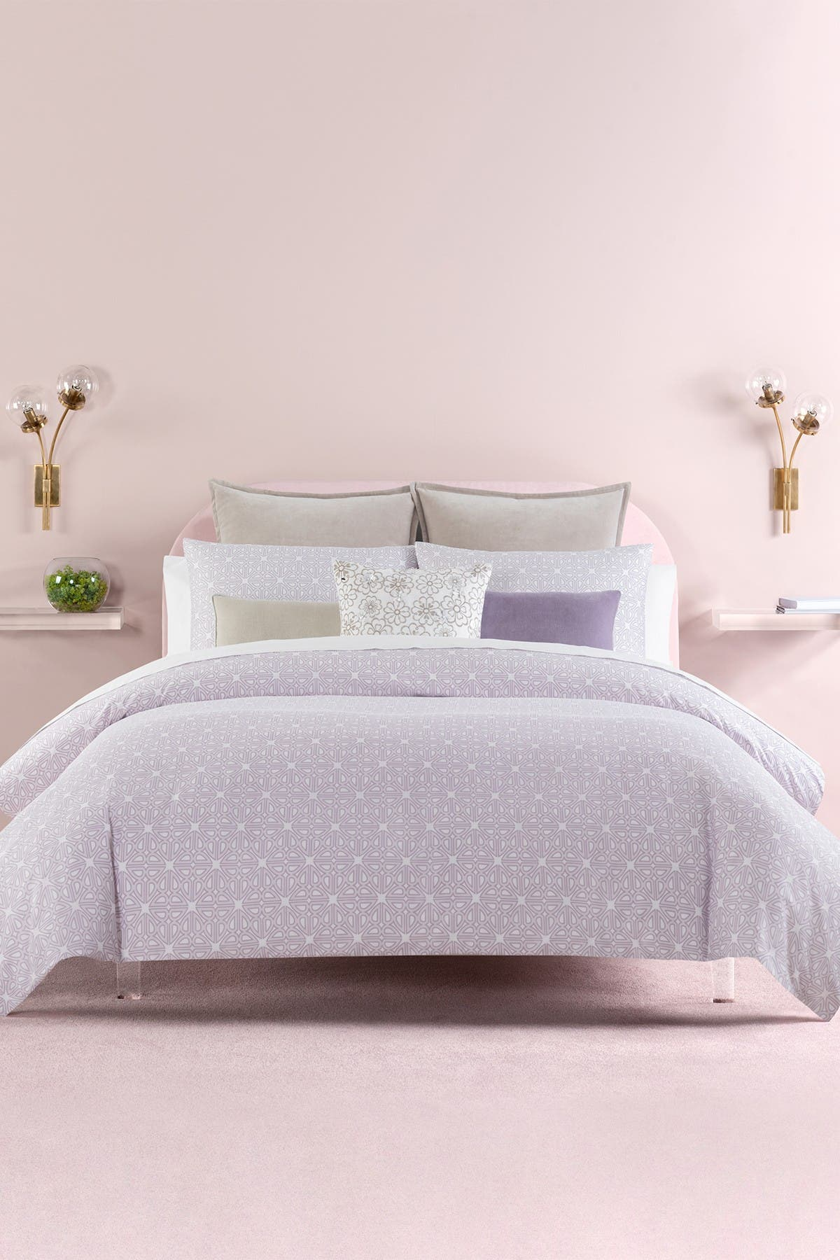 Image of kate spade new york lavender breeze blocks full/queen comforter 3-piece set