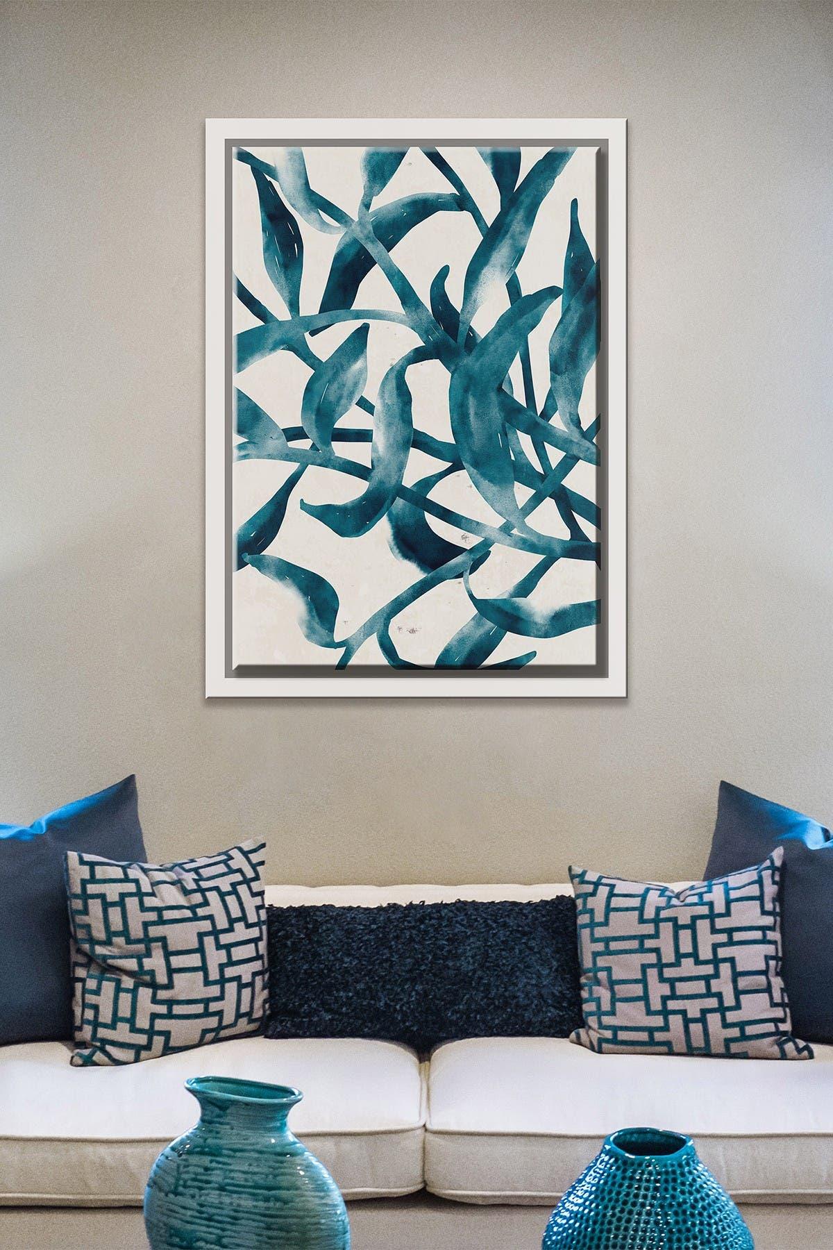 Image of PTM Images Blue Pods-Large Floater Framed Canvas