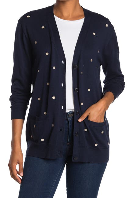 Image of J. Crew Rack Boyfriend Dots Cardigan
