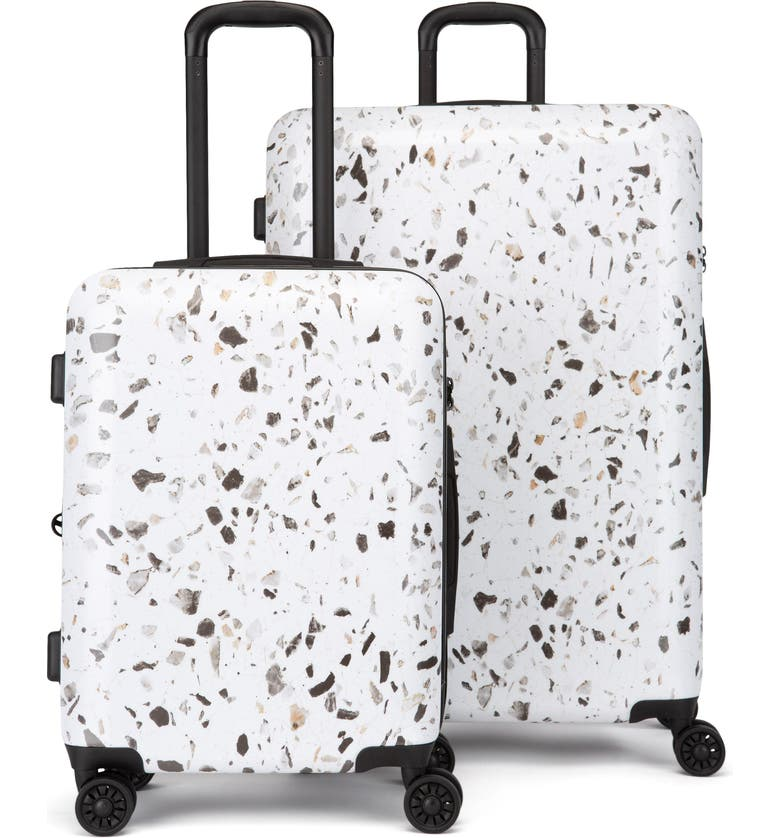 CALPAK Terrazo 30-Inch & 22-Inch Hard Side Spinner Suitcase & Carry-On Set, Main, color, EARTH-MULTI