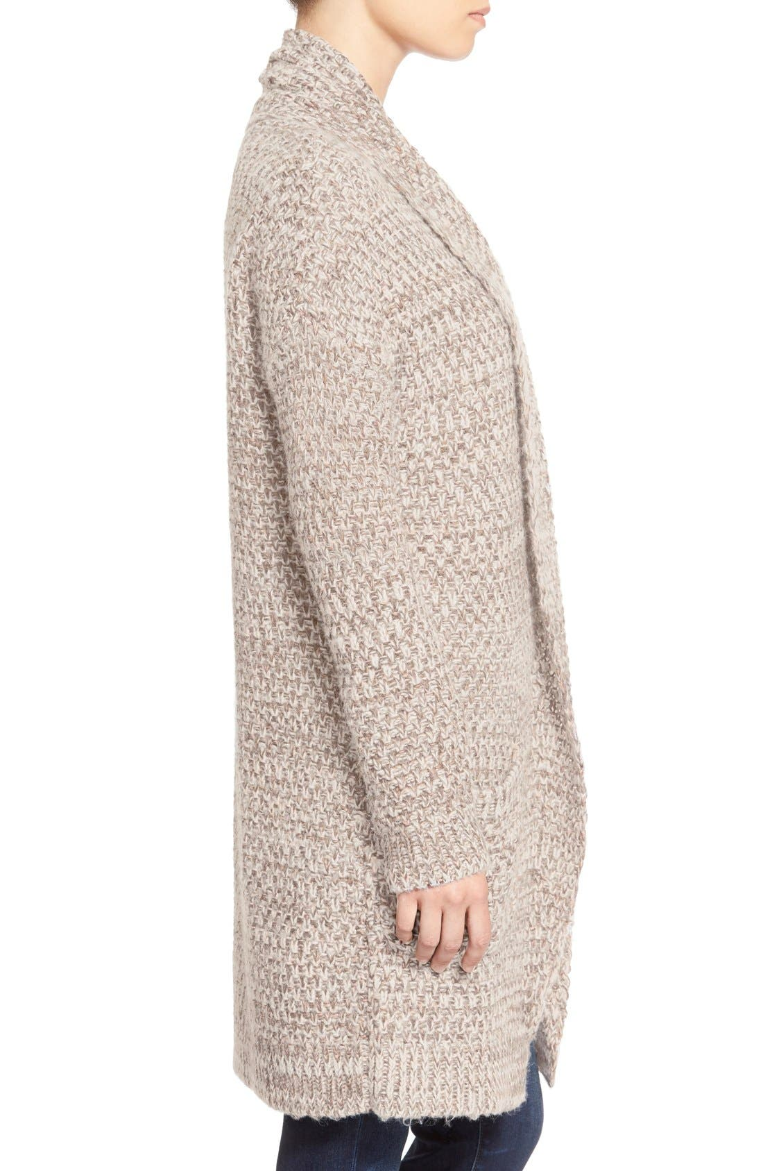 ,                             Marled Long Open Front Cardigan,                             Alternate thumbnail 21, color,                             250