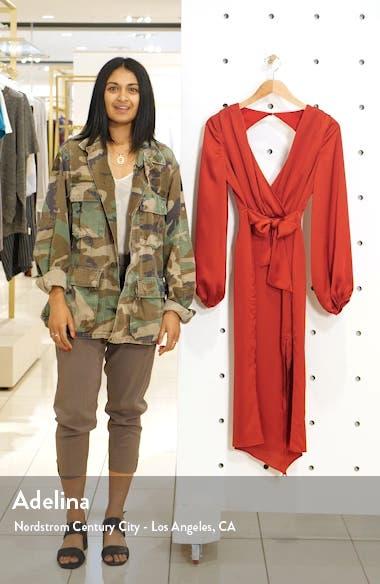 Emilia Long Sleeve Satin Dress, sales video thumbnail