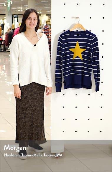 Wool & Cashmere Intarsia Crewneck Sweater, sales video thumbnail