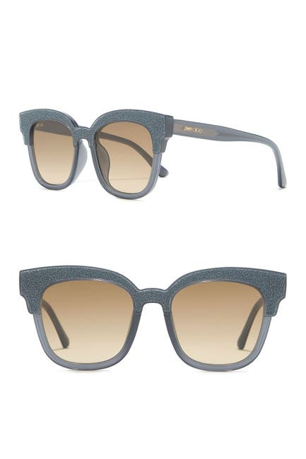 Image of Jimmy Choo Mayela 50mm Glitter Square Sunglasses