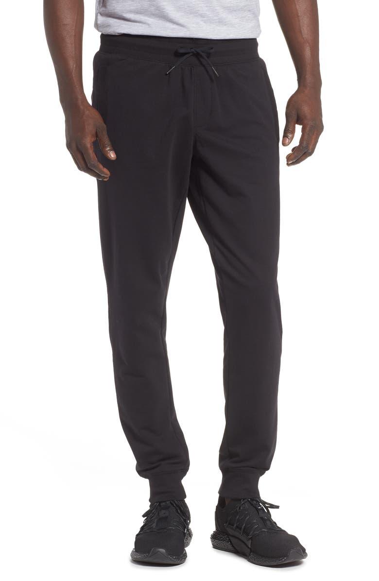 ZELLA Fleece Jogger Pants, Main, color, BLACK