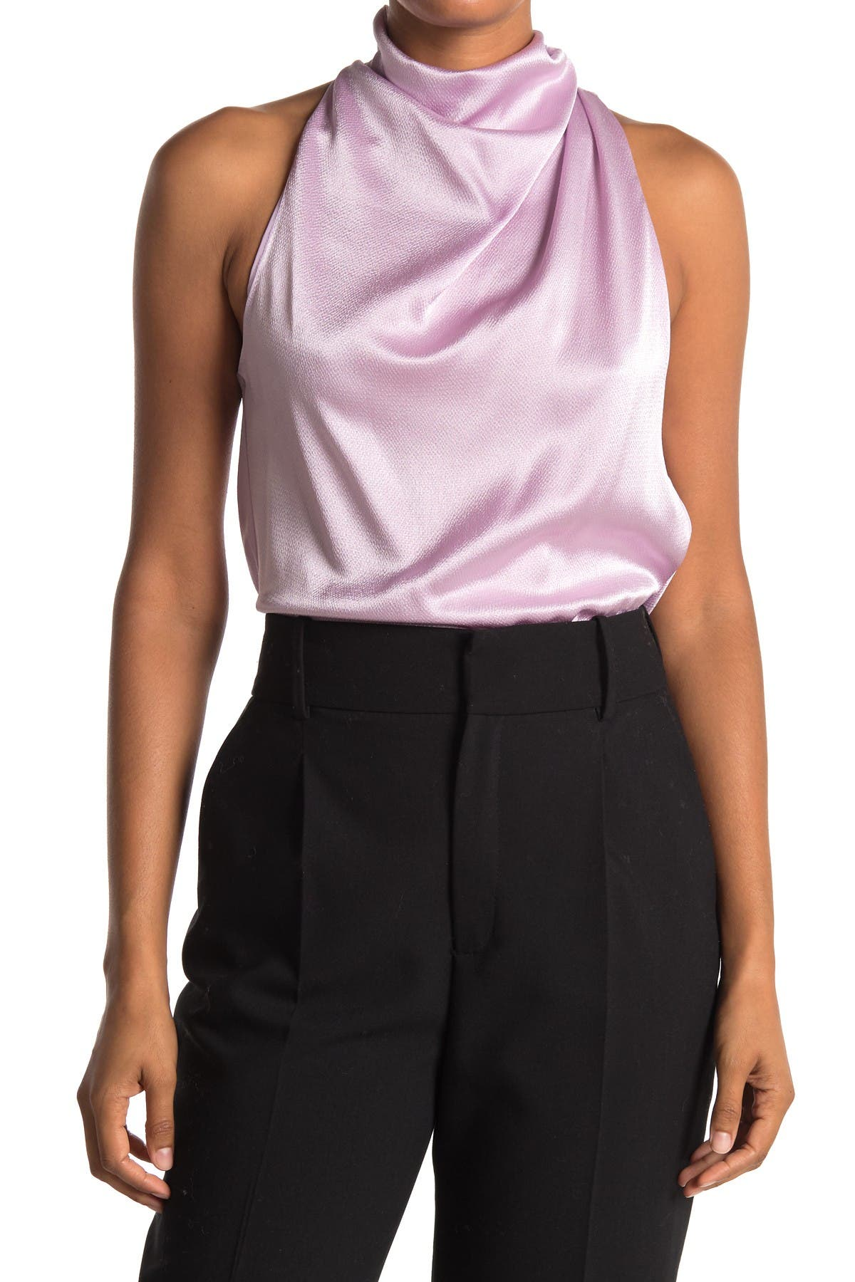 Image of A.L.C. Evelyn Sleeveless Satin Blouse