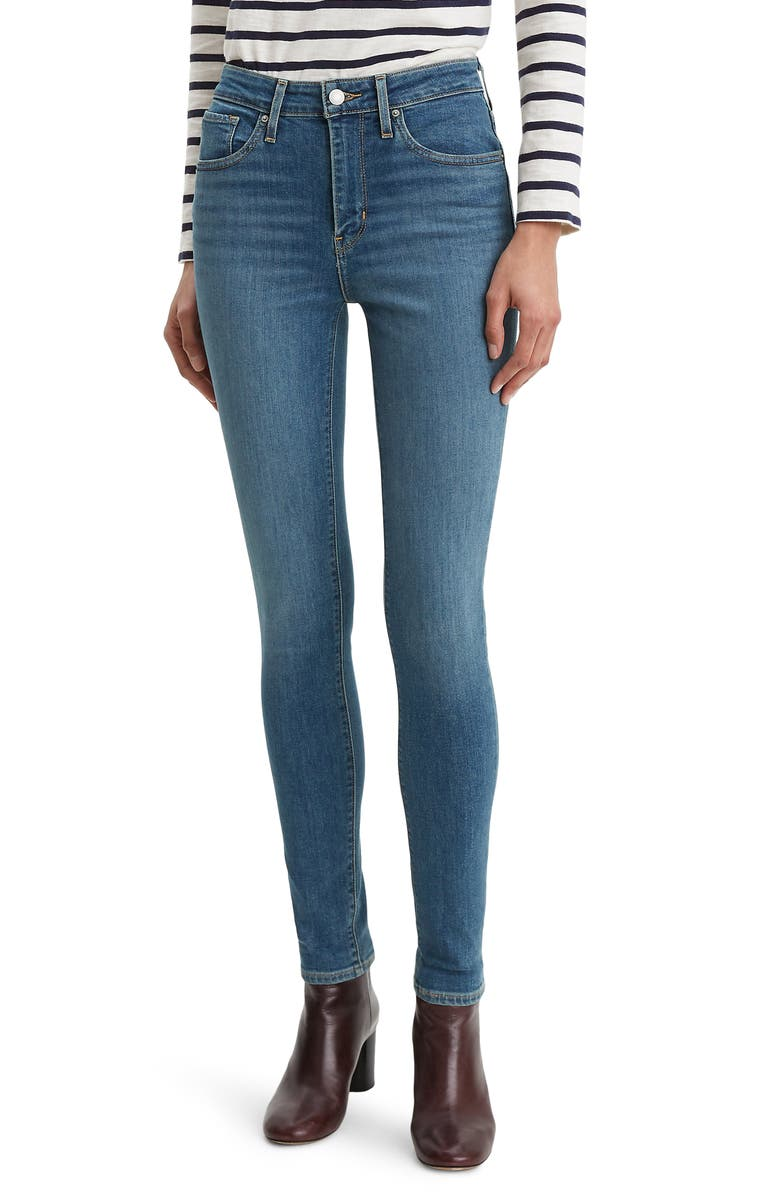 LEVI'S<SUP>®</SUP> 721<sup>™</sup> High Waist Skinny Jeans, Main, color, LOS ANGELES SUN