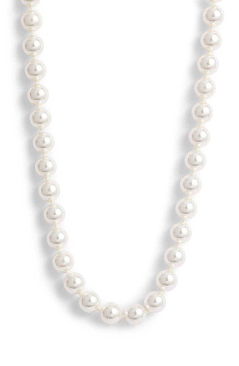 NADRI Simulated Pearl Long Necklace, Main, color, 140
