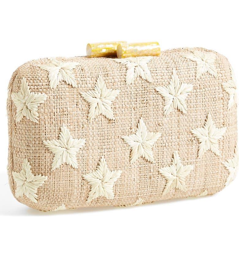 KAYU 'Star' Straw Clutch, Main, color, 250