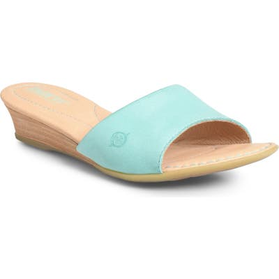B?rn Shasta Wedge Slide Sandal, Blue